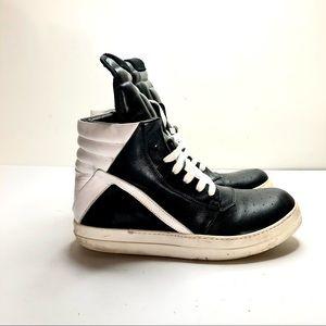 Rick Owens geobasket high top sneakers sz 41